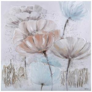 dekorační malovaný obraz Blue Flowers