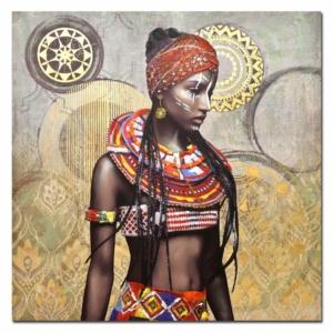 malovaný obraz Afrika