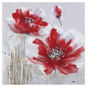 dekorační obraz Červené květy II.