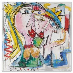dekorační obraz Milenci