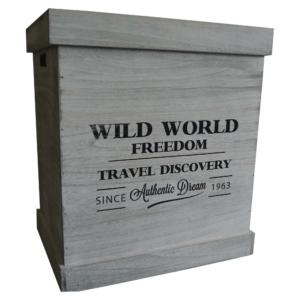 dřevěná krabice Wild World