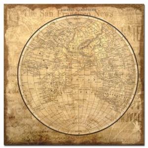 retro historická mapa světa