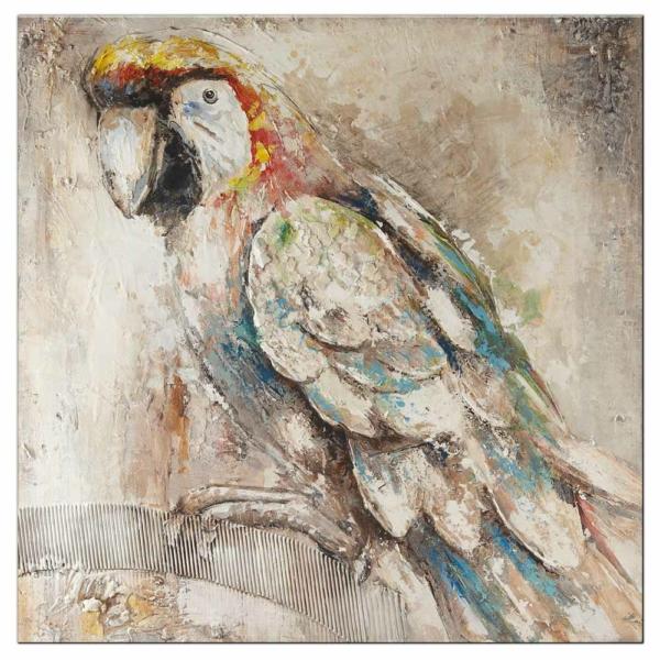 malovaný obraz Papoušek