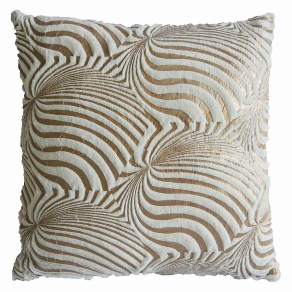 dekorační polštář bílo-zlatý