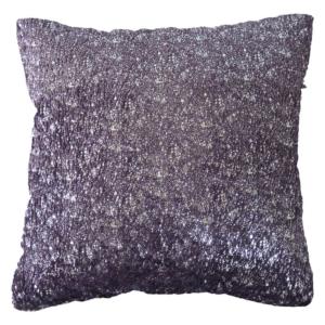 dekorační polštář fialovostříbrný