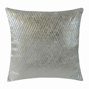 dekorační polštář béžověstříbrný