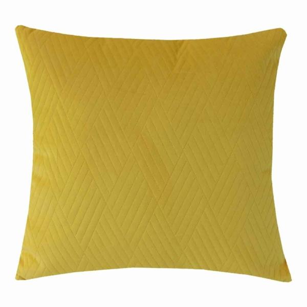 dekorační polštář žlutý